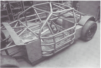 Stock car chassis under construction (From Race Car Chassis Design and Construction by Forbes Aird)