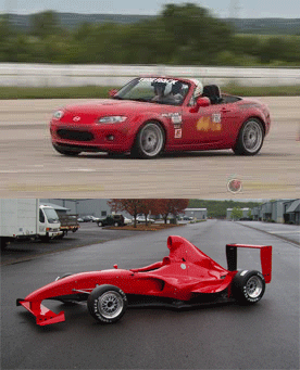 SCCA Autocross car (top) and Stohr F1000 formula car (bottom)