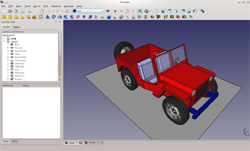 FreeCad 3D modeling software